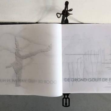 artbook: handgeschept papier, architektenpapier met zaden, drukwerk